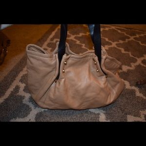 Handbags - brown and black leather purse